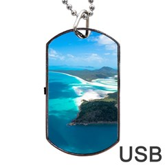WHITEHAVEN BEACH 2 Dog Tag USB Flash (One Side)