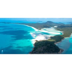 Whitehaven Beach 2 You Are Invited 3d Greeting Card (8x4)