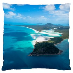 WHITEHAVEN BEACH 2 Large Flano Cushion Cases (One Side)