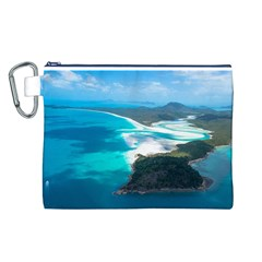 WHITEHAVEN BEACH 2 Canvas Cosmetic Bag (L)