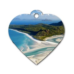 WHITEHAVEN BEACH 1 Dog Tag Heart (One Side)