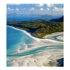 WHITEHAVEN BEACH 1 Shower Curtain 66  x 72  (Large)