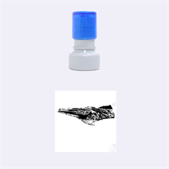WHITEHAVEN BEACH 1 Rubber Round Stamps (Small)