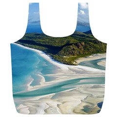 WHITEHAVEN BEACH 1 Full Print Recycle Bags (L)