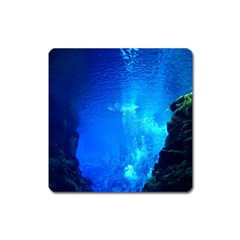 UNDERWATER TRENCH Square Magnet