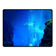 UNDERWATER TRENCH Double Sided Fleece Blanket (Small)
