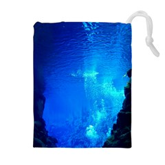 UNDERWATER TRENCH Drawstring Pouches (Extra Large)