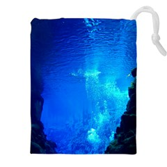 UNDERWATER TRENCH Drawstring Pouches (XXL)