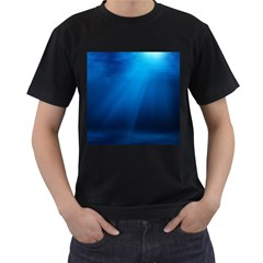 UNDERWATER SUNLIGHT Men s T-Shirt (Black) (Two Sided)