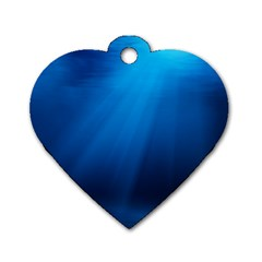 UNDERWATER SUNLIGHT Dog Tag Heart (One Side)