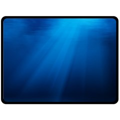 UNDERWATER SUNLIGHT Double Sided Fleece Blanket (Large)