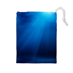 UNDERWATER SUNLIGHT Drawstring Pouches (Large)