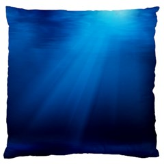 UNDERWATER SUNLIGHT Large Flano Cushion Cases (Two Sides)