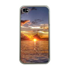 TAHITIAN SUNSET Apple iPhone 4 Case (Clear)
