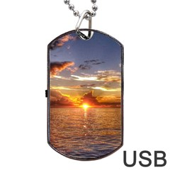 TAHITIAN SUNSET Dog Tag USB Flash (Two Sides)