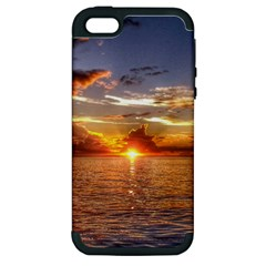TAHITIAN SUNSET Apple iPhone 5 Hardshell Case (PC+Silicone)