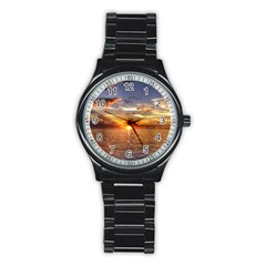 TAHITIAN SUNSET Stainless Steel Round Watches