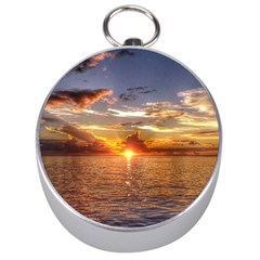TAHITIAN SUNSET Silver Compasses