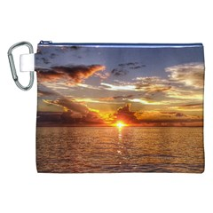 TAHITIAN SUNSET Canvas Cosmetic Bag (XXL)
