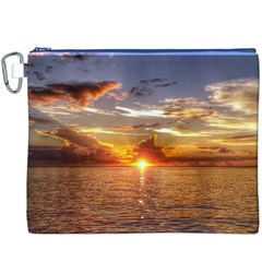 TAHITIAN SUNSET Canvas Cosmetic Bag (XXXL)