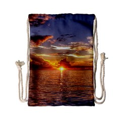 Tahitian Sunset Drawstring Bag (small)