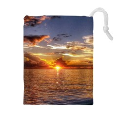 Tahitian Sunset Drawstring Pouches (extra Large)