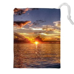 TAHITIAN SUNSET Drawstring Pouches (XXL)