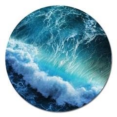 STORM WAVES Magnet 5  (Round)
