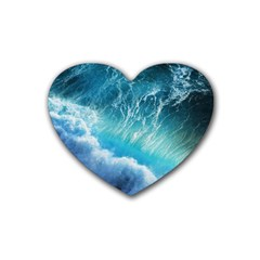 STORM WAVES Heart Coaster (4 pack)