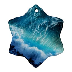 STORM WAVES Snowflake Ornament (2-Side)