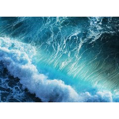STORM WAVES Birthday Cake 3D Greeting Card (7x5)