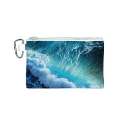 STORM WAVES Canvas Cosmetic Bag (S)