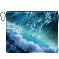 STORM WAVES Canvas Cosmetic Bag (XXXL)