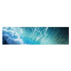 Storm Waves Satin Scarf (oblong)