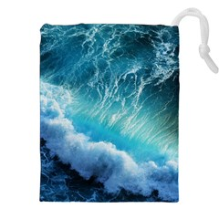 Storm Waves Drawstring Pouches (xxl)