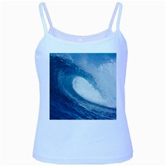 OCEAN WAVE 2 Baby Blue Spaghetti Tanks