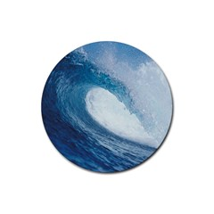 OCEAN WAVE 2 Rubber Round Coaster (4 pack)