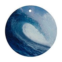 OCEAN WAVE 2 Round Ornament (Two Sides)
