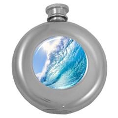 OCEAN WAVE 1 Round Hip Flask (5 oz)