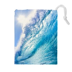 Ocean Wave 1 Drawstring Pouches (extra Large)