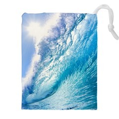 Ocean Wave 1 Drawstring Pouches (xxl)
