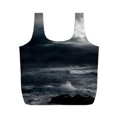 OCEAN STORM Full Print Recycle Bags (M)
