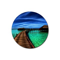 MALDIVES 2 Rubber Coaster (Round)
