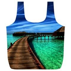 MALDIVES 2 Full Print Recycle Bags (L)