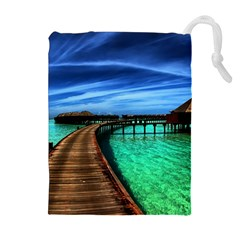 MALDIVES 2 Drawstring Pouches (Extra Large)