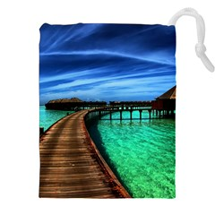 MALDIVES 2 Drawstring Pouches (XXL)