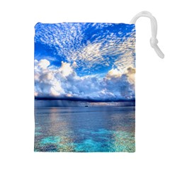 MALDIVES 1 Drawstring Pouches (Extra Large)