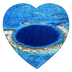 GREAT BLUE HOLE 2 Jigsaw Puzzle (Heart)