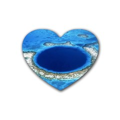GREAT BLUE HOLE 2 Heart Coaster (4 pack)