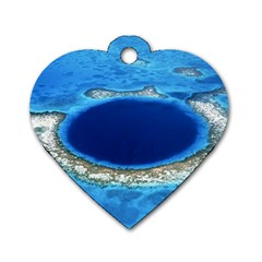 GREAT BLUE HOLE 2 Dog Tag Heart (Two Sides)